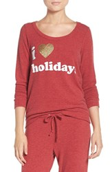 Chaser Women's I Heart Holidays Sweatshirt