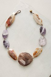 Anthropologie Auburn And Agate Bib Necklace Wine