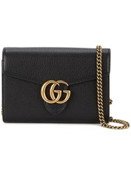 Gucci Gg Marmont Shoulder Bag Women Leather Metal One Size Black