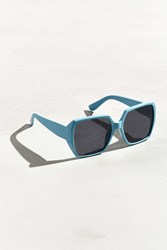 Urban Outfitters Oversized Rounded Square Sunglasses Sky
