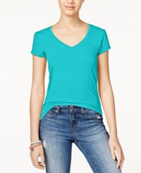 Energie Juniors' Mila V Neck Tee Blue Radiance