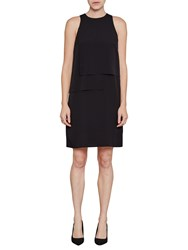 French Connection Cornell Solid Shift Dress Black