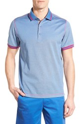 Bugatchi Men's Mercerized Cotton Polo Sky