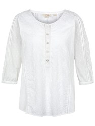 Fat Face Jenny Broderie Popover White