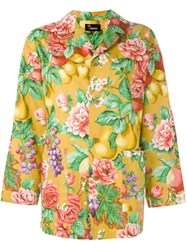 Kenzo Vintage Floral Printed Jacket Yellow And Orange