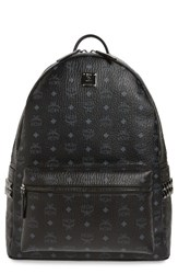 Mcm Men's Large Stark Studded Side Backpack Black