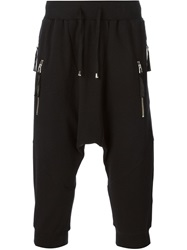 Unconditional Drop Crotch Track Shorts Black