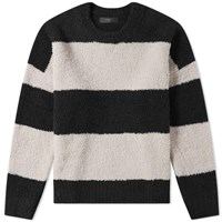 Amiri Wide Stripe Crew Knit Black