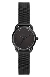 Fossil Tailor Mesh Strap Watch 35Mm Black
