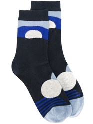 Henrik Vibskov Mars Socks Women Cotton Nylon Spandex Elastane One Size Blue