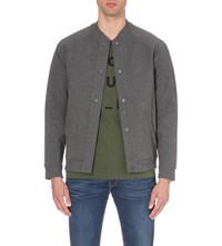 Lee Bonded Cotton Blend Bomber Jacket Grey Mele
