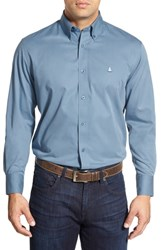 Nordstrom Big And Tall Shop Smartcare Tm Traditional Fit Twill Boat Shirt Blue Coronet