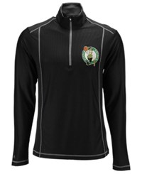 Antigua Men's Boston Celtics Tempo Half Zip Pullover Black Steel Grey