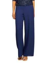 Alex Evenings Pebble Georgette Pants Navy Seas