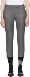 Thom Browne Grey Low Rise Skinny Trousers