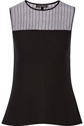 Narciso Rodriguez Stretch Wool Blend Top Black