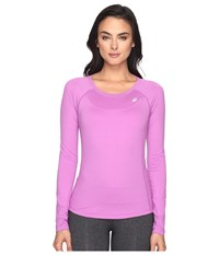 Asics Asx Dry Long Sleeve Top Orchid Women's Long Sleeve Pullover Purple