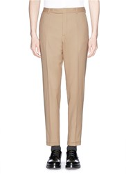 Carven Virgin Wool Tapered Pants Neutral