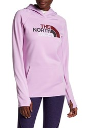 The North Face Logo Hooded Pullover Purple