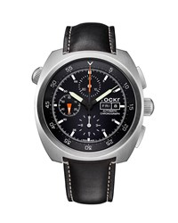 Tockr Watches Air Defender Chronograph Watch With Black Leather Strap