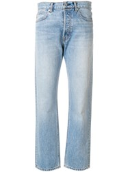 Helmut Lang Washed Out Mum Jeans Blue