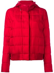 Moncler Gamme Rouge Hooded Jacket Red