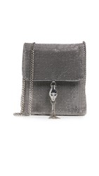 Whiting And Davis Jeanne Cross Body Bag Pewter