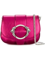 Roberto Cavalli Chain Strap Crossbody Bag Pink And Purple