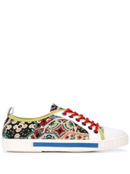 Carven Low Top Tapestry Sneakers Multicolour
