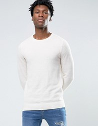 Pull And Bear Pullandbear Crew Neck Jumper In Cream Cream
