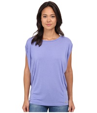 Bench Pillarz Short Sleeve Top Deep Periwinkle Women's Short Sleeve Pullover Pewter