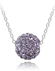 Lord And Taylor Crystal Studded Pendant Necklace Violet