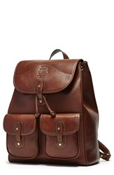 Men's Ghurka 'Blazer' Leather Backpack