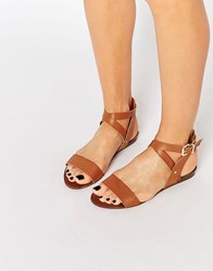 Oasis Strap Buckle Sandals Tan