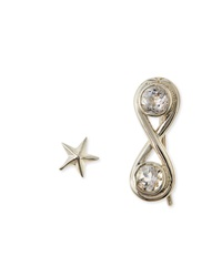 Pamela Love Infinite Silver Ear Cuff And Star Earrings