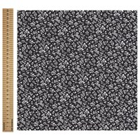 John Louden Ditsy Floral Print Fabric Black