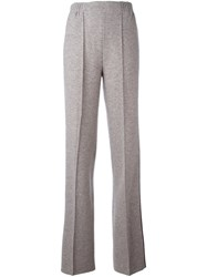 Agnona Side Stripe Trousers Nude And Neutrals