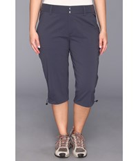 Columbia Plus Size Saturday Trail Ii Knee Pant India Ink Women's Capri Gray