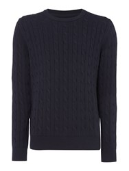 Howick Men's Sanford Cable Crew Jumper Navy