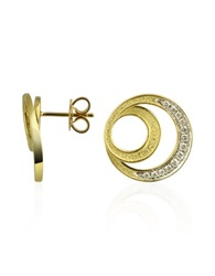 Torrini Infinity 18K Yellow Gold Diamond Earrings