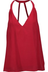 Haute Hippie Silk Top Claret