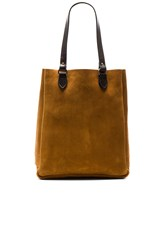 Filson Rugged Suede Tote Cognac