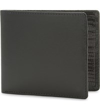 Launer Calf Leather Billfold Wallet Black