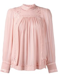 Isabel Marant Skara Blouse Pink Purple
