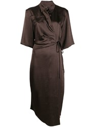 Nanushka Lais Wrap Dress 60
