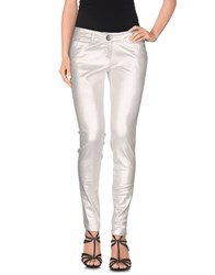Blugirl Folies Denim Denim Trousers Women Silver
