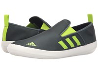 Adidas B Slip On Dlx Mineral Green Semi Solar Slime White Men's Shoes Gray