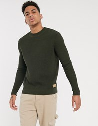 Tom Tailor Knitted Jumper In Khaki Green