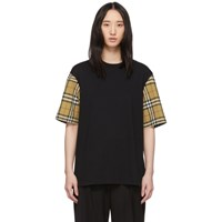 Burberry Black Serra Check T Shirt