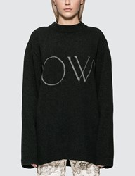 Off White Ow Knit Oversize Sweater Black
